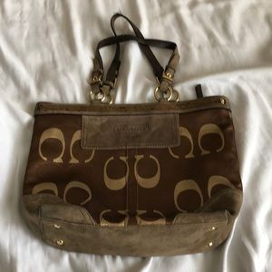 Authentic COACH Monogram Tote..Beaded Collection